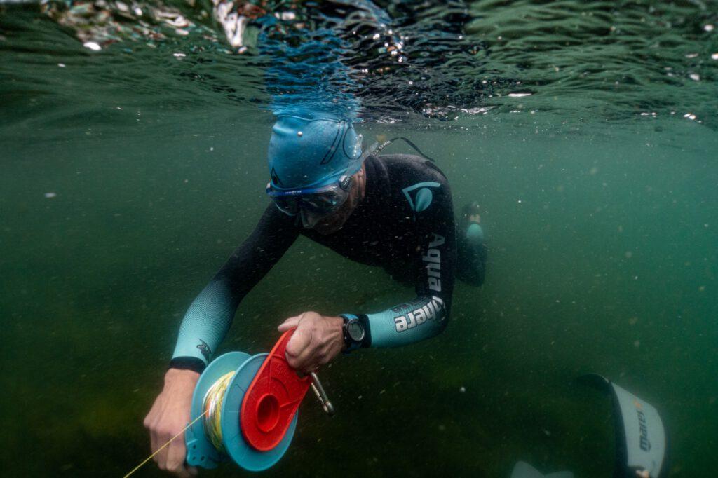 André Grabs Vorbereitung für den Rekord dnf im See 2020